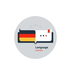 German language courses advertising concept Fluent vector image vector image