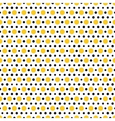 Gold and black dots on white background Seamless vector image