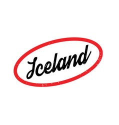 Iceland rubber stamp vector