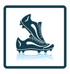Icon of football boots vector image