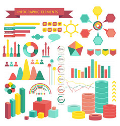 info graphics elements vector image vector image