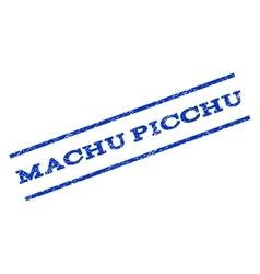 Machu picchu watermark stamp vector
