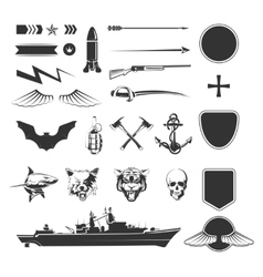 Military symbols mega set vector image