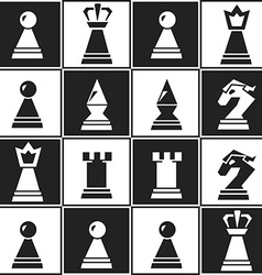 monochrome chess seamless pattern vector image vector image