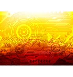 Orange Techno Background vector image