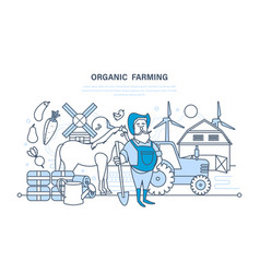Organic farming cultivation of natural products vector