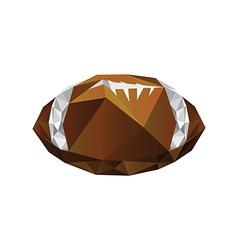 Origami football ball vector image