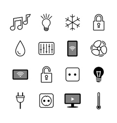 Set of icons internet of things smart house vector