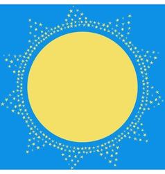 Sun on the sky decoration card Sparkling sun vector image vector image