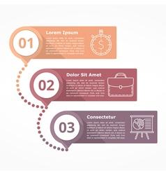 Three steps diagram vector