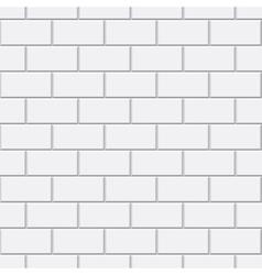 White brick seamless pattern vector