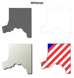 Whitman map icon set vector