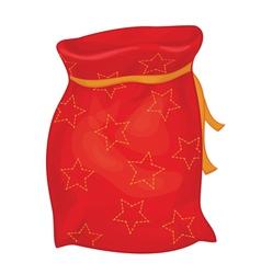 Xmas red bag vector
