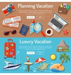 Planning luxury vacation concept vector