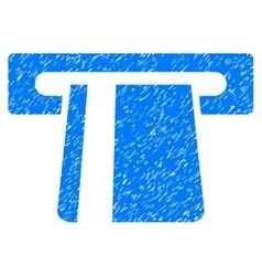 Bank card terminal grainy texture icon vector