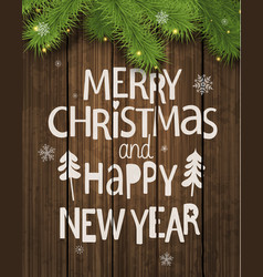 christmas and new year holiday greeting card vector image