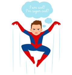 Superhero spider boy vector