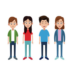 group children little family vector image