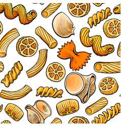 Seamless pattern backdrop design of italian pasta vector