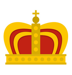 Monarchy crown icon isolated vector