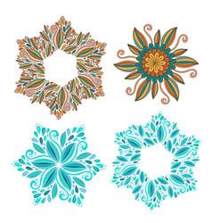 Set of decorative frame modern elements for vector
