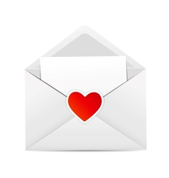 Valentines day card with envelope and heart vector