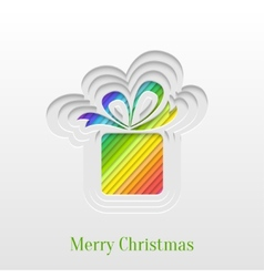 Creative christmas gift greeting card vector