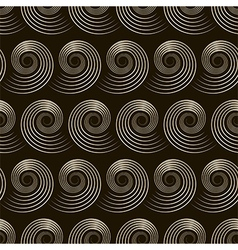 Seamless pattern with stylish spiral curls vector