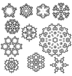 Set of vintage snowflakes for your winter vector