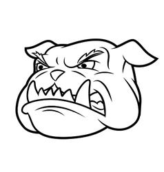 Aggressive bulldog 2 vector image