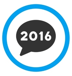 2016 Message Icon vector image