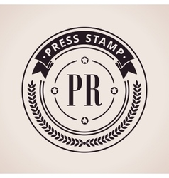 Stamp calligraphic design logo luxury vector