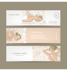 Banners design women in spa saloon vector image