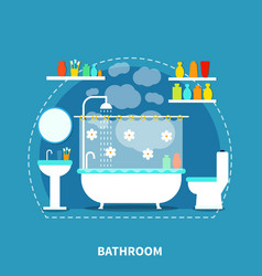 Bathroom interior concept vector