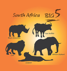 big five in africa vector image vector image