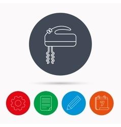 Blender icon mixer sign vector