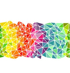 Bright triangles low poly border vector image