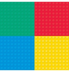 Building toy bricks seamless pettern vector image vector image