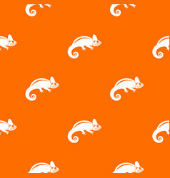 chameleon pattern seamless vector image