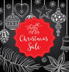 Christmas sale invitation flyer with graphic vector