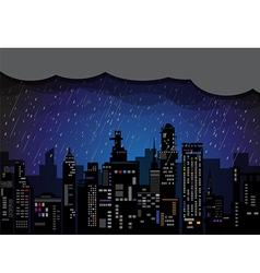 City Rain vector image vector image