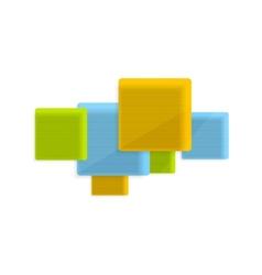 Concept geometry tech design vector image
