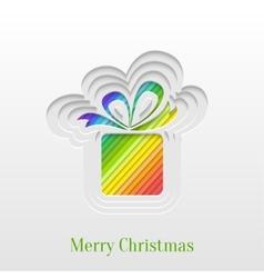 Creative christmas gift greeting card vector