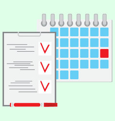 Deadline of daily work concept flat vector image
