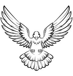 Dove birds logo for peace concept and wedding desi vector image vector image