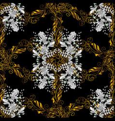 eastern style element golden outline floral decor vector image vector image