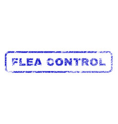 Flea control rubber stamp vector