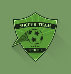 Football logo soccer logotype in flat design vector