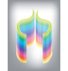 Geometric rainbow vector image vector image