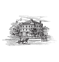 George washingtons house on cherry street new vector